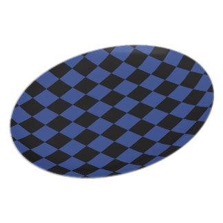 Blue Checks Melamine Plate