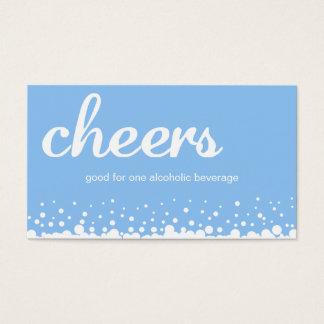 Blue cheer bubble wedding custom bar drink ticket