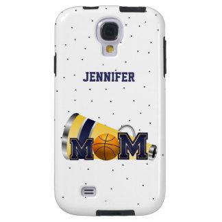 Blue Cheering Basketball Mom Samsung Galaxy 4 Case