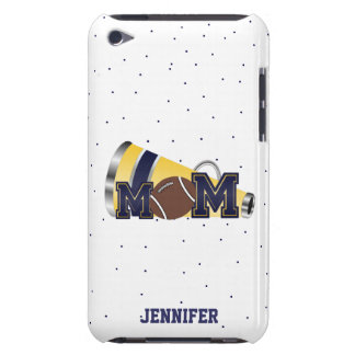 Blue Cheering Football Mom iPod Touch Case