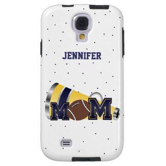 Blue Cheering Football Mom Samsung Galaxy 4 Case
