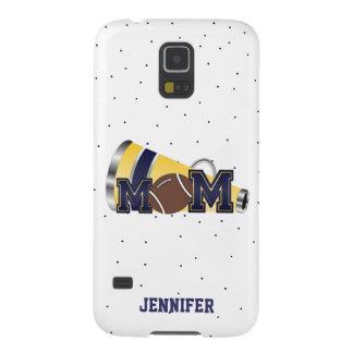 Blue Cheering Football Mom Samsung Galaxy S5 Case