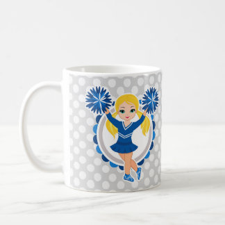 Blue Cheerleader Blonde - Cute Cheer Coffee Mug
