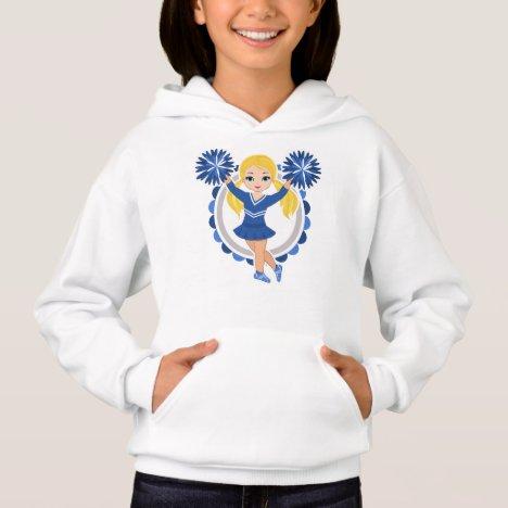 Blue Cheerleader Blonde - Cute Cheer Hoodie