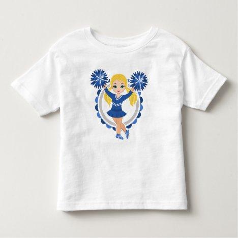 Blue Cheerleader Blonde - Cute Cheer Toddler T-shirt