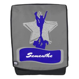 Blue Cheerleader boldface backpack