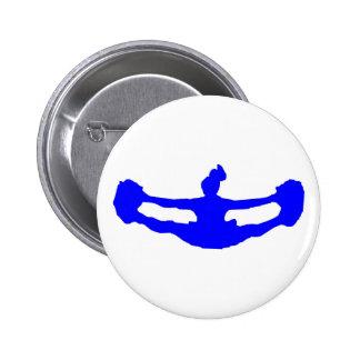 Blue CHEERLEADER Button