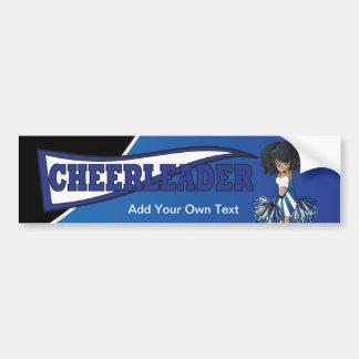 Blue Cheerleader Cheer Girl Bumper Sticker