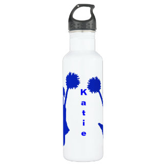 Blue Cheerleader Custom Water Bottle