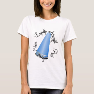 Blue Cheerleader Megaphone T-Shirt