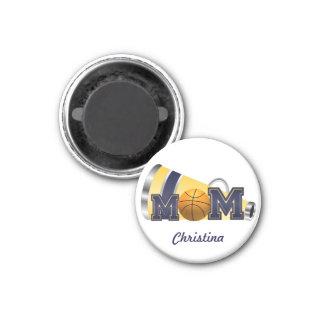 Blue Cheerleader Mom Basketball Magnet