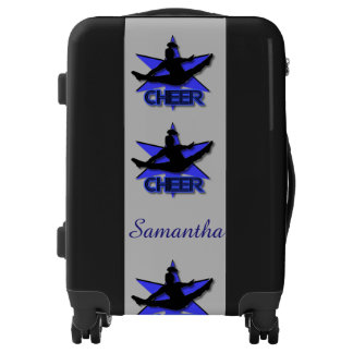 Blue Cheerleader personalized luggage