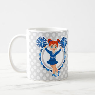 Blue Cheerleader Redhead - Cute Cheer Coffee Mug