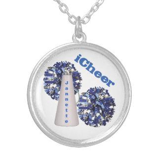 Blue Cheerleader s Custom Necklace
