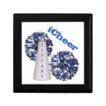 Blue Cheerleader Tile Box Jewelry Boxes