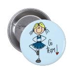 Blue Cheerleader Tshirts and Gifts Pins