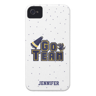 Blue Cheerleading Go Team iPhone 4 Case