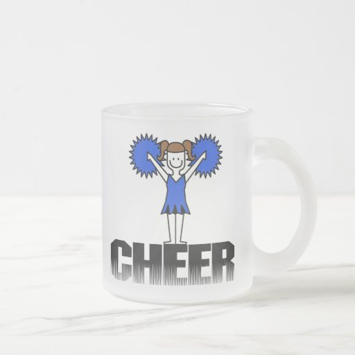 Blue Cheerleading T-shirts and Gifts 10 Oz Frosted Glass Coffee Mug