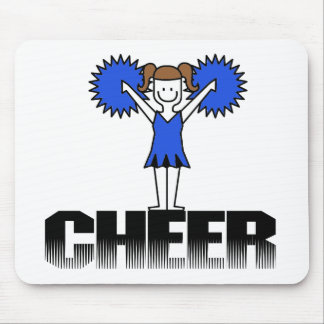 Blue Cheerleading T-shirts and Gifts Mouse Pad