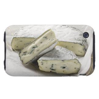 Blue cheese with pieces cut on paper tough iPhone 3 covers