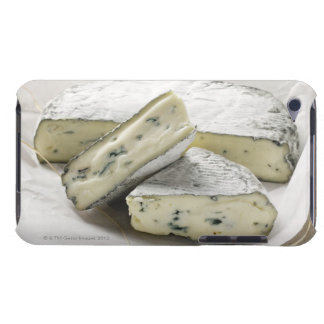 Blue cheese with pieces cut on paper iPod touch cover