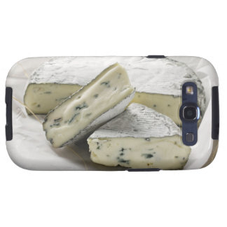 Blue cheese with pieces cut on paper galaxy s3 cases