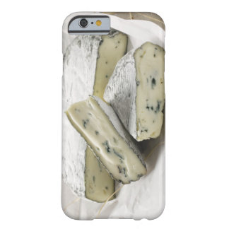 Blue cheese with pieces cut on paper barely there iPhone 6 case