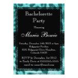 Blue Cheetah Lace Print Bachelorette Party Card