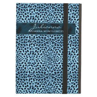 Blue Cheetah Print Custom Tablet Case iPad Cover