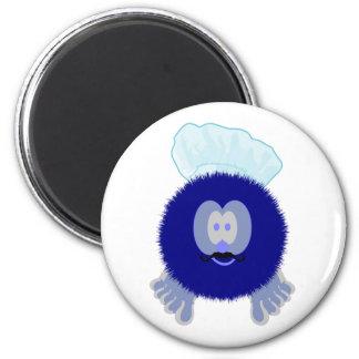 Blue Chef Pom Pom Pal Magnet