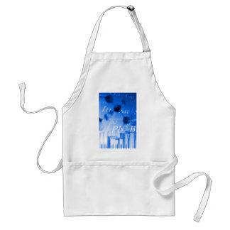 Blue chemistry adult apron