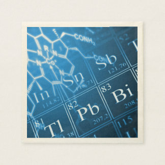 Blue chemistry paper napkin