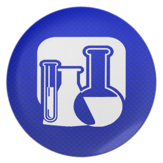 Blue Chemistry Plate