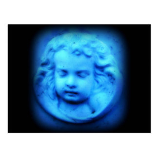Blue Cherub Postcard