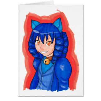 Blue Cheshire Card
