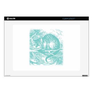 "Blue Cheshire Cat 15"" Laptop Skin"