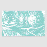 Blue Cheshire Cat Stickers