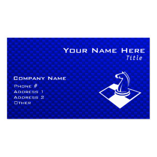 Blue Chess Double-Sided Standard Business Cards (Pack Of 100)