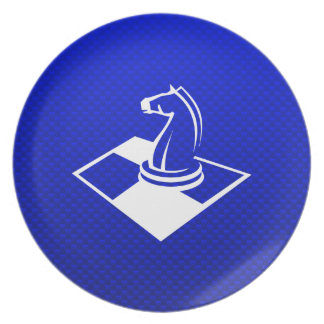 Blue Chess Party Plates