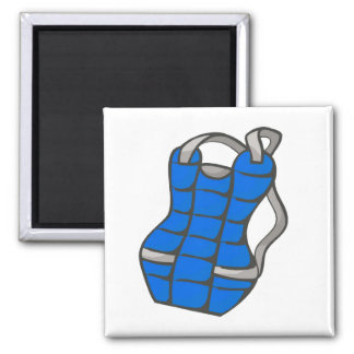 Blue Chest Protector 2 Inch Square Magnet