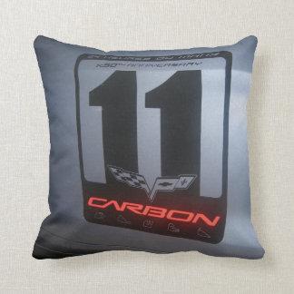 Blue Chevrolet Corvette Carbon Edition ZR1 3ZR Throw Pillows