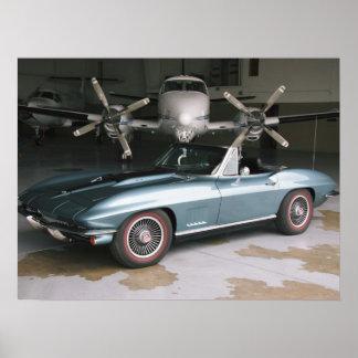 Blue Chevrolet Corvette Poster