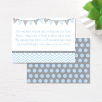 Blue Chevron Book Request Cards