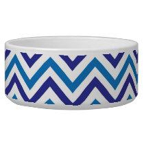 Blue Chevron Bowl