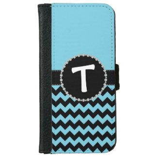 Blue Chevron, Diamond Ribbon Flap iPhone 6 Wallet Case