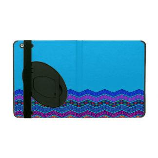 Blue Chevron Pattern Geometric Designs Color iPad Cover