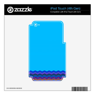 Blue Chevron Pattern Geometric Designs Color iPod Touch 4G Skin
