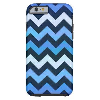 Blue Chevron Pattern iPhone 6 Case