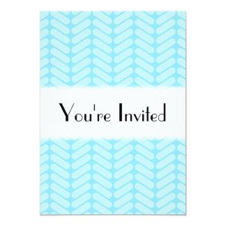 Blue Chevron Pattern, Like Knitting. Card