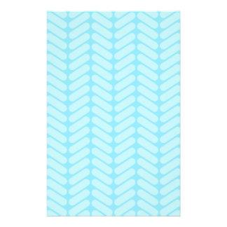 Blue Chevron Pattern, Like Knitting. Flyer